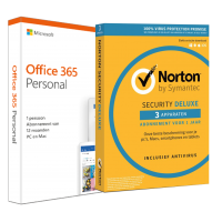 Office products: Microsoft 365 Personal + Norton Security | 1 User | discount bundle