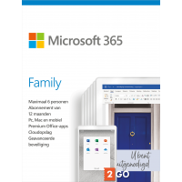 Office for home use: Microsoft 365 Family - 6 users 1 year