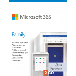 Office products: Microsoft 365 Family - 6 users 1 year