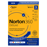 Antivirus: Norton 360 Deluxe | 5Devices - 1Year | Windows - Mac - Android - iOS | 50Gb Cloud Storage