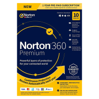 Antivirus: Norton 360 Premium | 10Devices - 1Year | Windows - Mac - Android - iOS |75GB Cloud Storage
