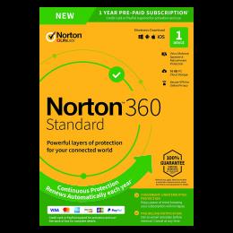 Norton 360 Standaard | 1Device - 1Year | Windows - Mac - Android - iOS | 10Gb Cloud Storage
